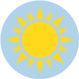 An icon of a yellow sun.