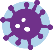 An icon of a purple virus.
